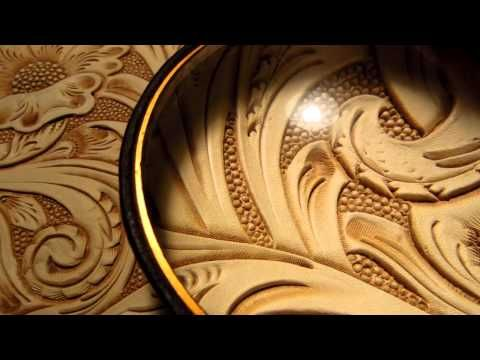 Leather Craft-Carving - YouTube
