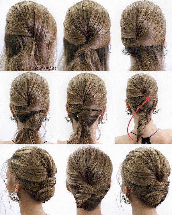 34 Diy Hairstyle Tutorials For Wedding And Prom Wedding Hairstyles Tutorial Hair Styles Updo Hairstyles Tutorials
