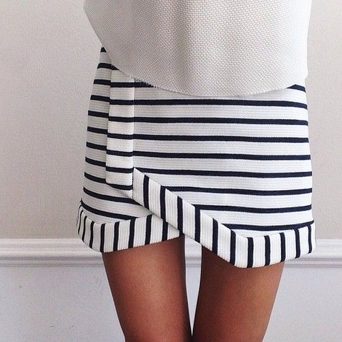 asymmetrical striped skirt, too bad the link doesn't work.