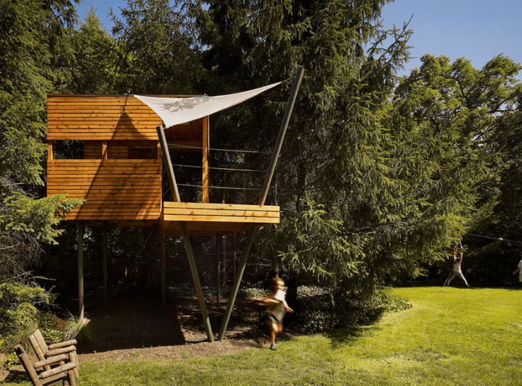 33 of the Best Tree House Ideas Ever for Grown Kids - http://freshome.com/best-tree-house-ideas/