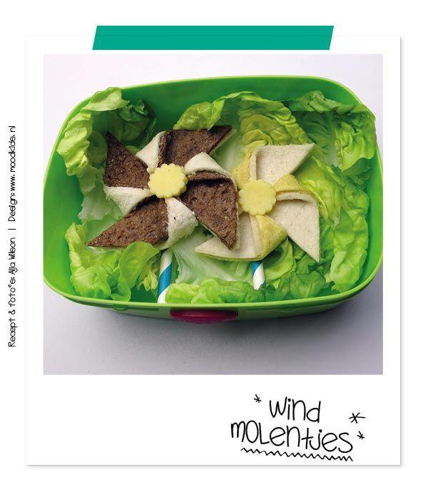 Bento windmolen - Bento windmill - pinwheel - food for kids - cooking with kids - leuke lunch maken voor je kinderen