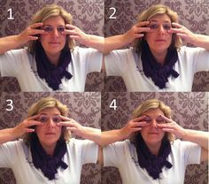 gezichtsgymnastiek oefening tegen overhangende oogleden en kraaienpootjes