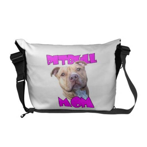 Pitbull Mom Dog Courier Bag