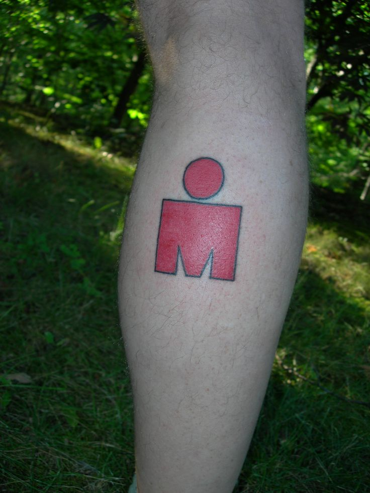 Ironman Triathlon Logo Tattoo | Kelly's Journey to Ironman Lake Placid