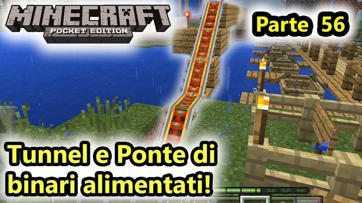 Minecraft PE - Tunnel e Ponte di binari alimentati! - Adroid - (Salvo Pi...