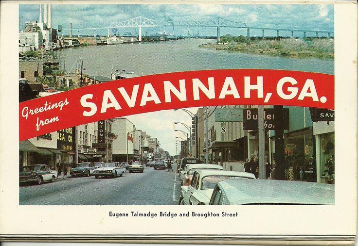 Eugene Talmadge Bridge and Broughton Street in Savannah Georgia  USA My trips as a sailor
