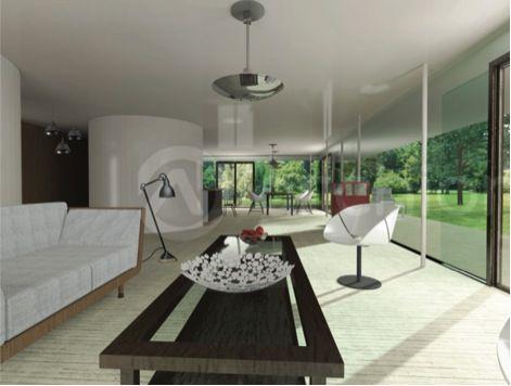L'intérieur de mes rêves, magnifique ouverture sur le jardin. J'aimes les grands espaces, ouverts, sobres et modernes.