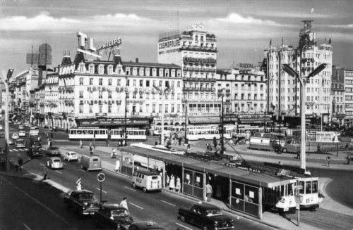 Place rogier 1959 jpg vieux bruxelles pinterest