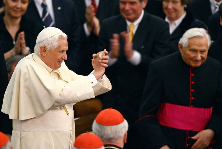 Pope Benedict XVI, in 2007, with his brother Georg Ratzinger, who, from 1964 to 1994, was the director of a Catholic boys' choir that is the subject of a recent sex-abuse investigation.
