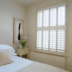 New England Plantation Shutters: Tier on Tier 89mm Blades Painted
