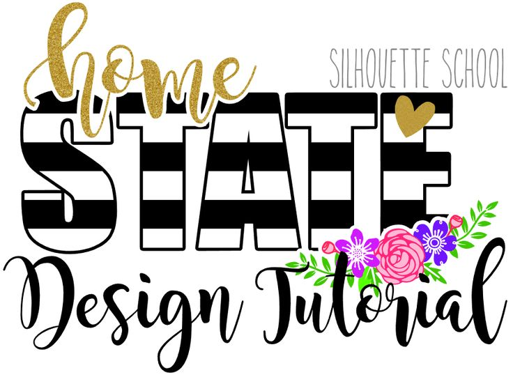 Striped State Design Tutorial with FREE CUT FILE for ALL STATES