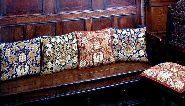 Beth Russell's Sunflower collection. 2 designs based on the sumptuous William Morris wallpaper, available with various background colours.