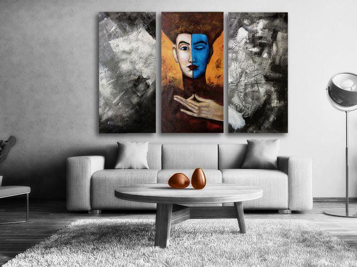 Oljemålning #Mysterious #Handmålad modern #abstrakt #tavla, som 3passar till varje modernt #hem och #kontor. En handmålad tavla ger alltid ett mer uttrycksfull intryck.