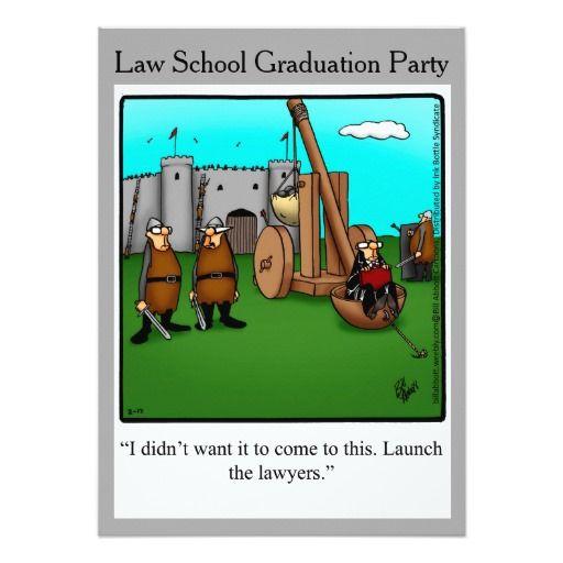 Funny Law School Graduation Party Invitations Funny Graduation