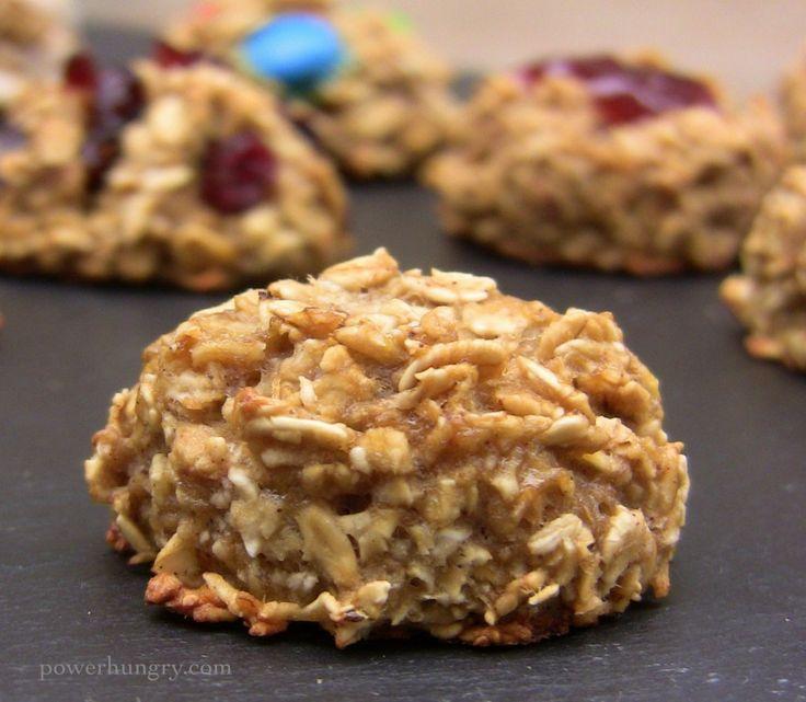 2-Ingredient Oatmeal Cookies {gluten-free, sugar-free, vegan}