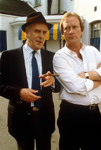 George Cole and Dennis Waterman kept up the cheeky Cockney banter from 1979 to 94 in ITV's comedy about dodgy dealing in the London underworld, Minder.