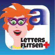 Educatieve app voor kinderen die de letters gaan leren *juf jannie letter flitsen plus*!