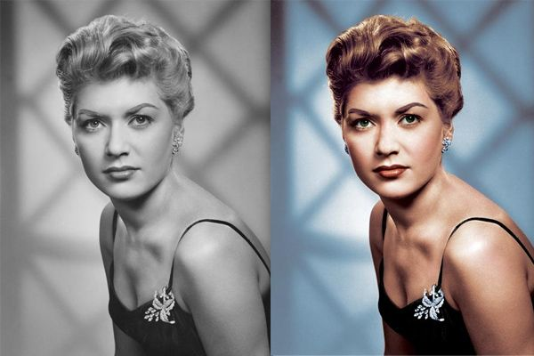 Turn black and white photos to color tutorial.  Also learn how to restore old damaged photos.