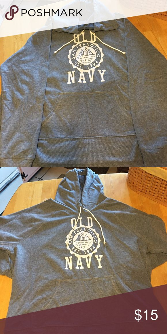 OLD NAVY HOODIE GRAY OLD NAVY HOODIE, EXCELLENT CONDITION, NO FLAWS OR DAMAGES. Only worn a few times. Looks brand new. Old Navy Tops Sweatshirts & Hoodies
