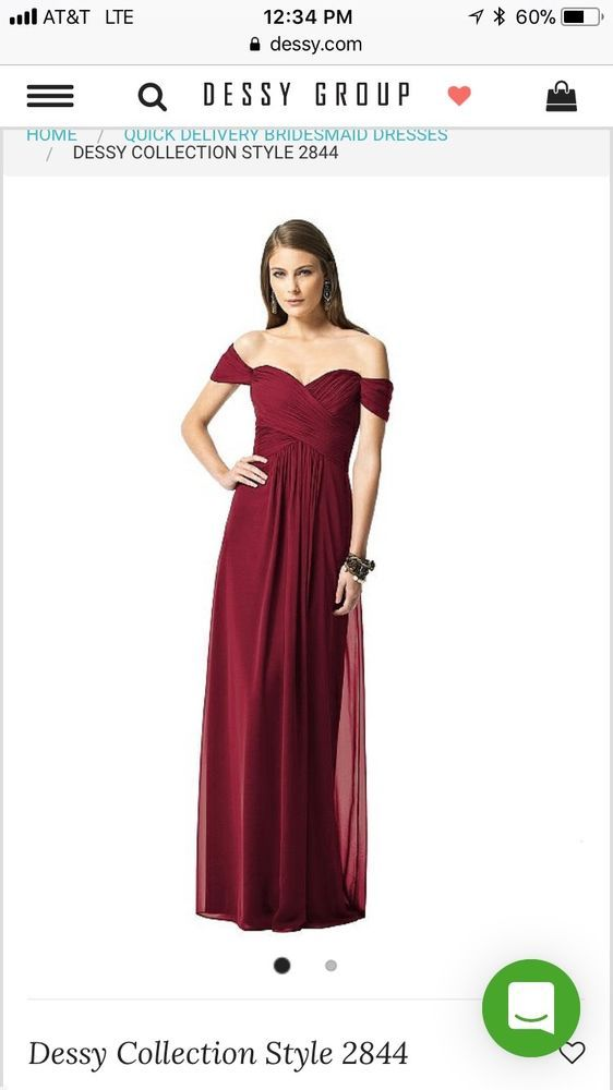 1cac092ed20f DESSY COLLECTION Long Chiffon Off-The-Shoulder Bridesmaid Dress Size ...