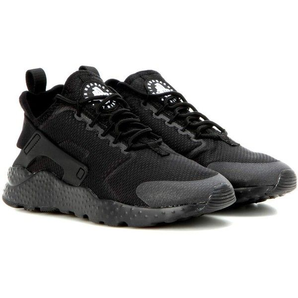 Nike Nike Air Huarache Run Ultra Sneakers ($150) ❤ liked on Polyvore featuring shoes, sneakers, black, nike sneakers, black shoes, kohl shoes, nike and nike trainers