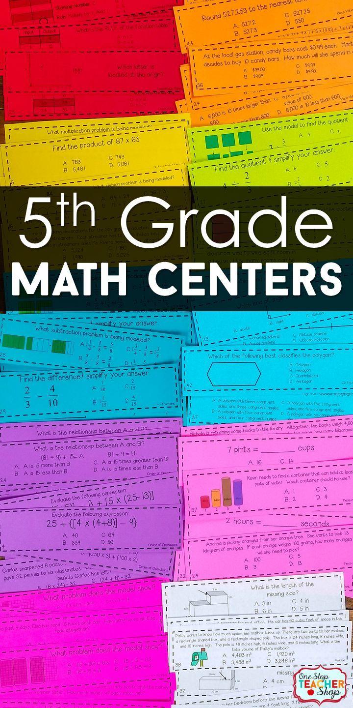 5th Grade Math Centers   5th Grade Math Games BUNDLE   Pinterest ...