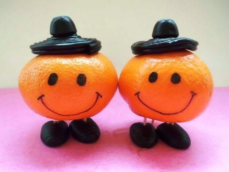 nice tangerine with drop