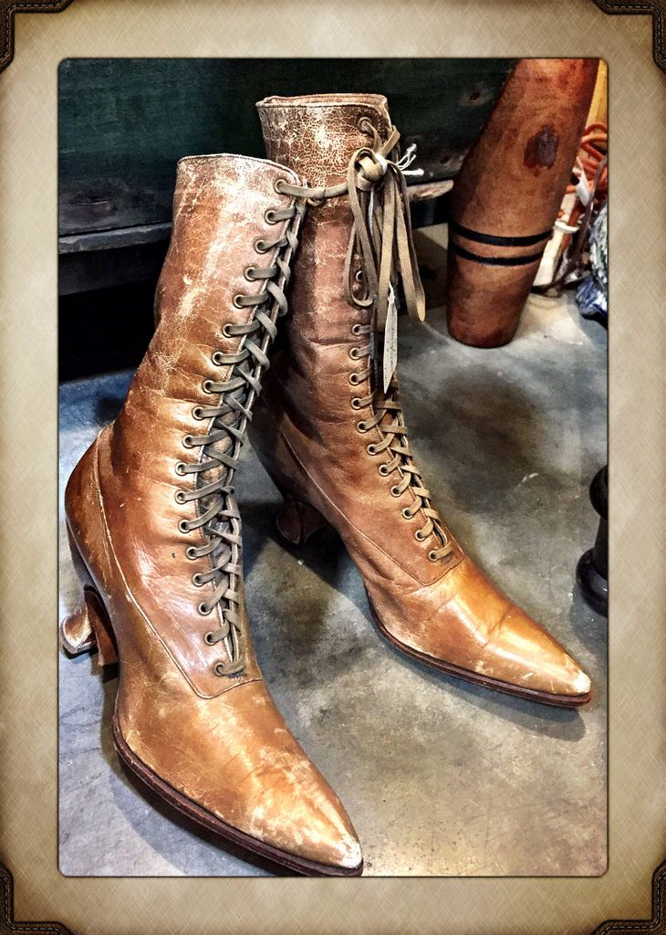 Ladies High Top Shoes, $78.  Gaslamp Antiques Too, booth T106.