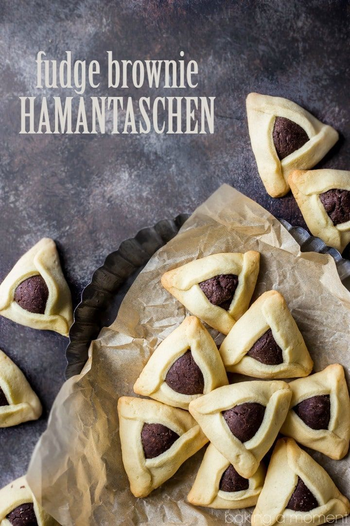 Fudge Brownie Hamantaschen Little Pillows Of Fudge Y Chocolate Brownie Filling Surrounded By A Butter Y Sug In 2020 Fudge Brownies Jewish Recipes Purim Cookie Recipe