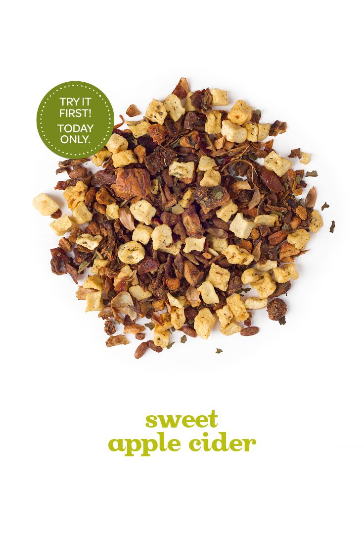 Hey Frequent Steepers! Today only, get a free sample of our upcoming Sweet Apple Cider tea with any purchase, in store and online.