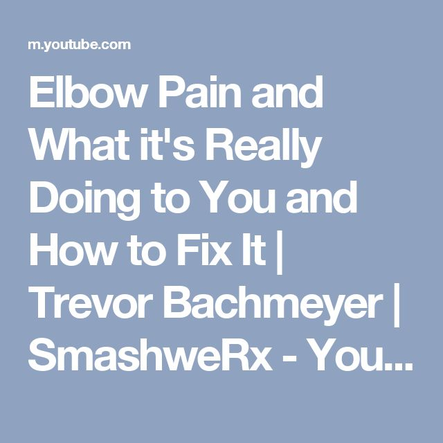how to fix elbow pain