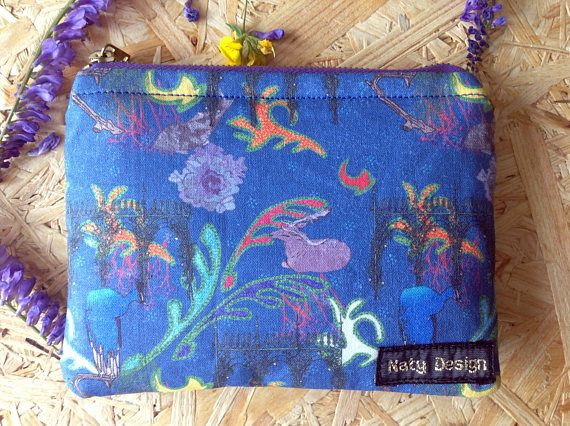 Handmade dreams of Kromeriz zip purse / wallet UNESCO Czech