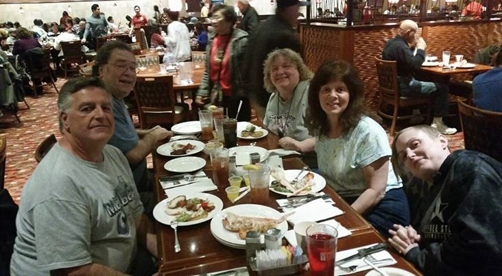 2-24-17  Valley View Lobster Buffet with Dave, Linda, Andrea & Dennis