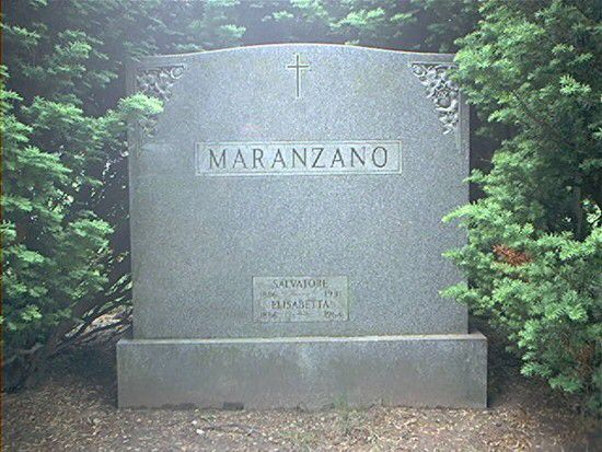 The grave of Salvatore Maranzano  St. John's Cemetery, Middle Village, Queens…