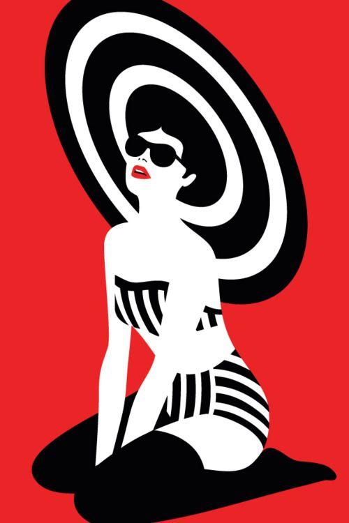 ..Malika Favre…….  #illustration #red
