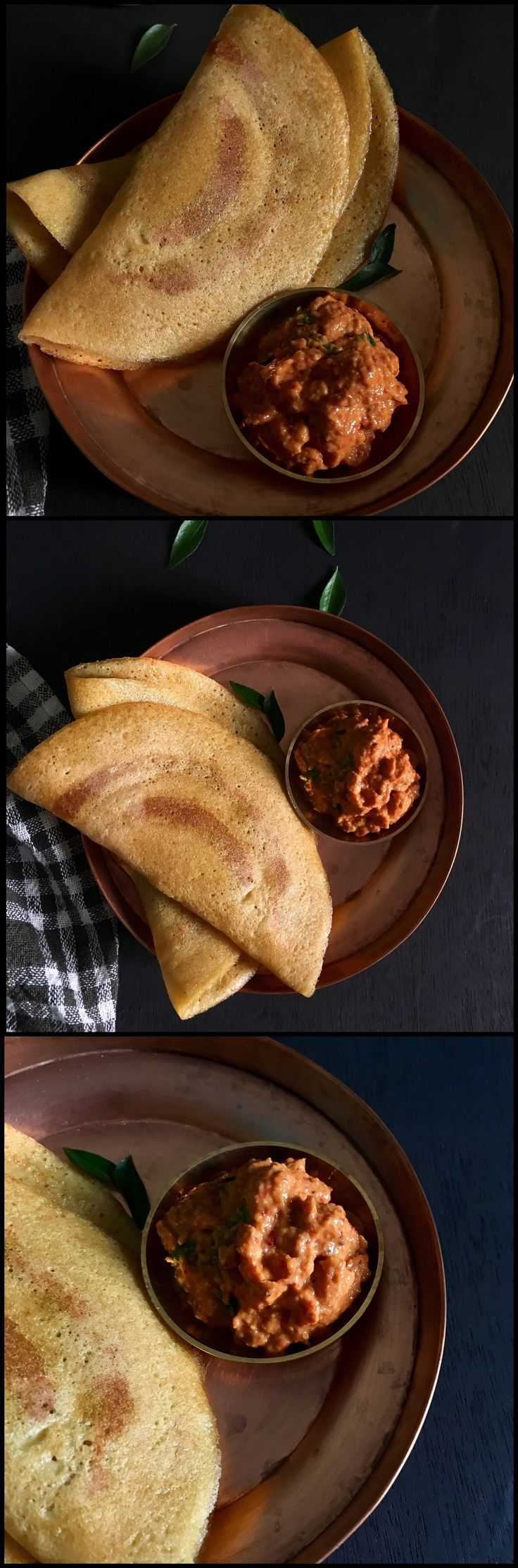 GF and Vegan breakfast Crepes made of mixed lentils and rice | South Indian Adai dosa
