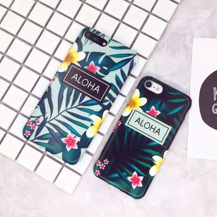 Phone Case For iphone 7 Case For iphone 7 Plus 6 6s Plus Fashion Banana leaf Hawaii Style Soft TPU Protective Phone Covers
