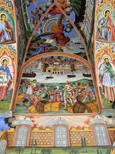 Frescoes, Nativity Church, Rila Monastery, Bulgaria by David, via Flickr