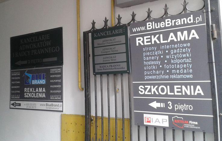 szyldy/tablice reklamowe pcv z nadrukiem bezpośrednim - projekt i wykonanie www.BlueBrand.pl #BlueBrand #AgencjaReklamowa #reklama