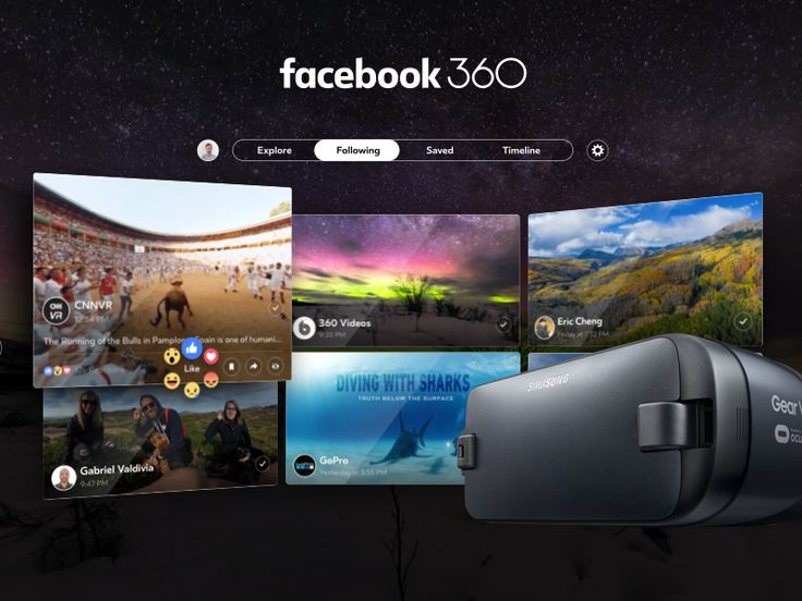 Facebook 360 for Gear VR by Gabriel Valdivia #Design Popular #Dribbble #shots
