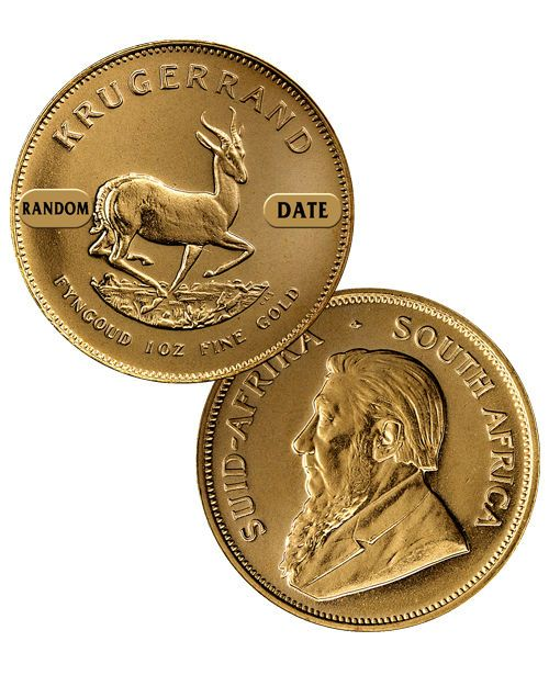 Special Price! Random Date South Africa 1 Troy Oz Gold Krugerrand Coin SKU26054
