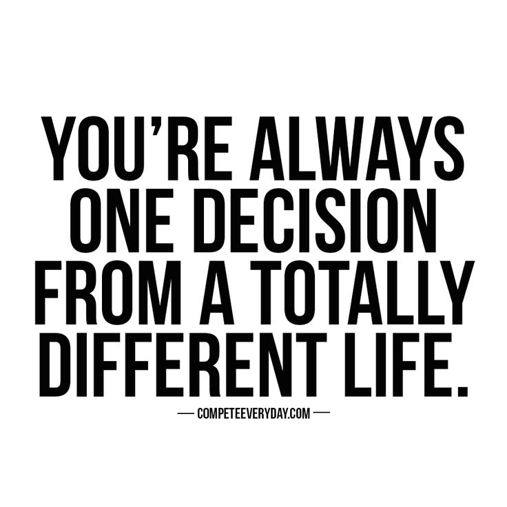 One conversation, one interaction, one decision can change