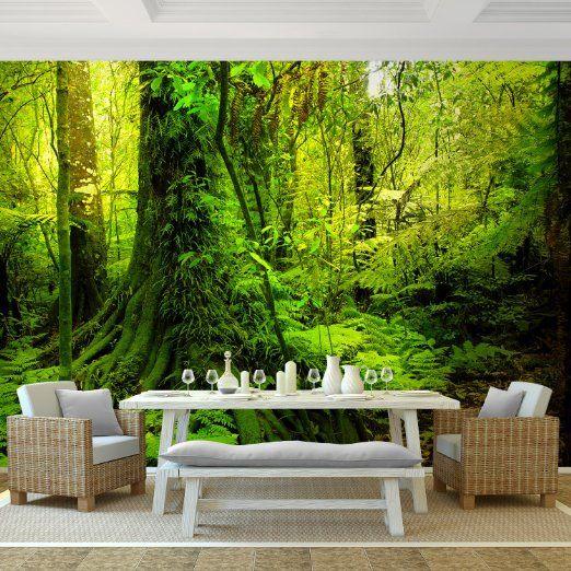 Selbstklebende Tapete Vlies : Vlies Fototapete 'Wald' 308×220 cm – 9010010c RUNA Tapete: Amazon.de