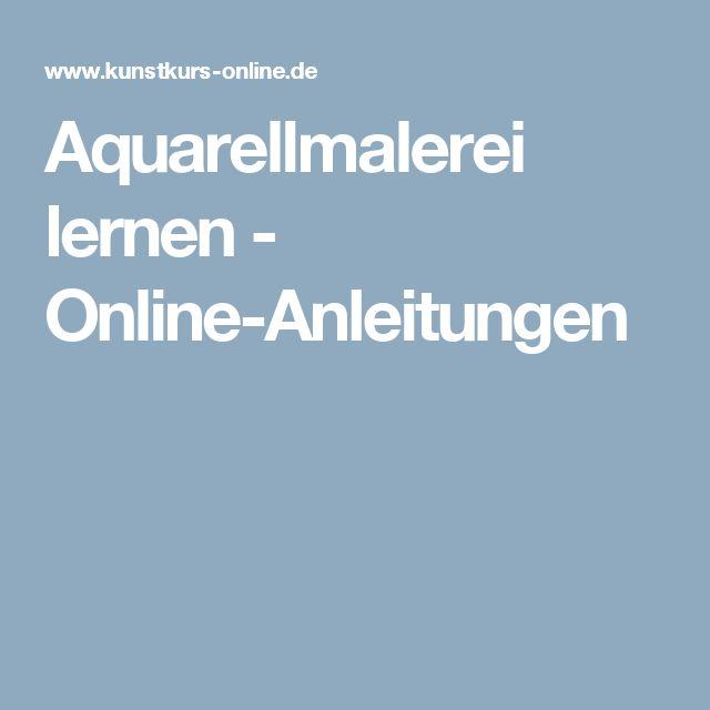 Aquarellmalerei lernen - Online-Anleitungen