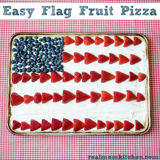 Easy Flag Fruit Pizza | realmomkitchen.com #memorialday ...