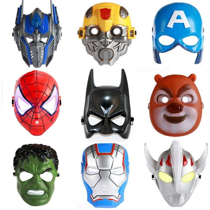 Luminous LED Mask Cosplay Cartoon Mask Toy Spider Man Batman Pacifier Captain America Mask The Hulk Plastic Mask Children Kids #>=#>=#>=#>=#> Click on the pin to check out discount price, color, size, shipping, etc. Save and like it!