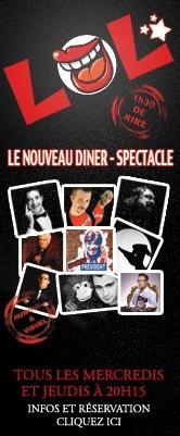 Cabaret carrousel de Paris. LOL le nouveau diner spectacle