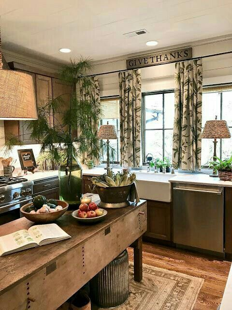 This Cozy Kitchen Is So Warm And Sweet Looking Wonderful Living