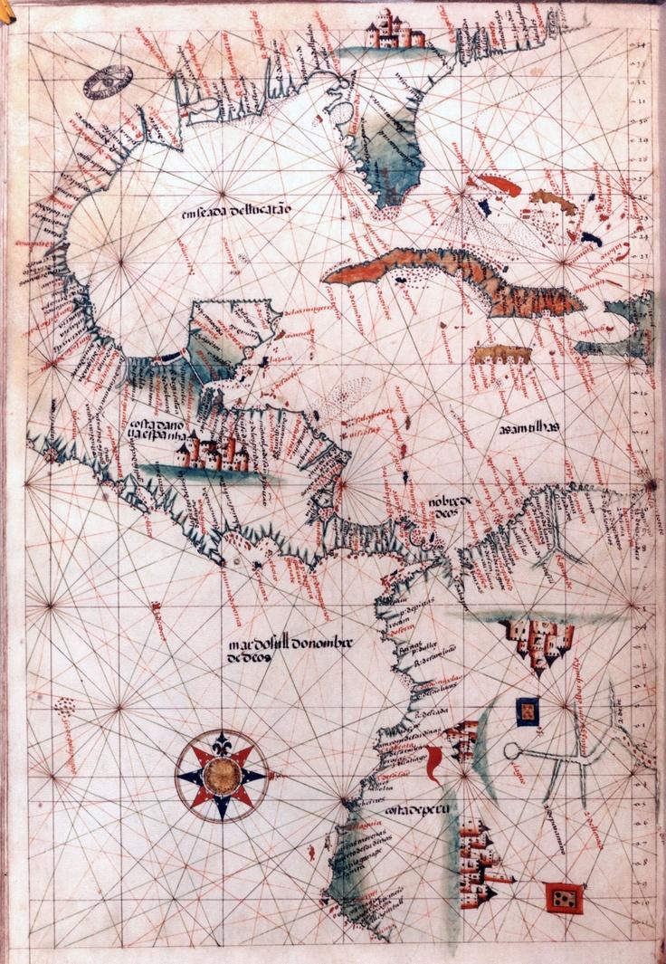 Map of America. 16th-century