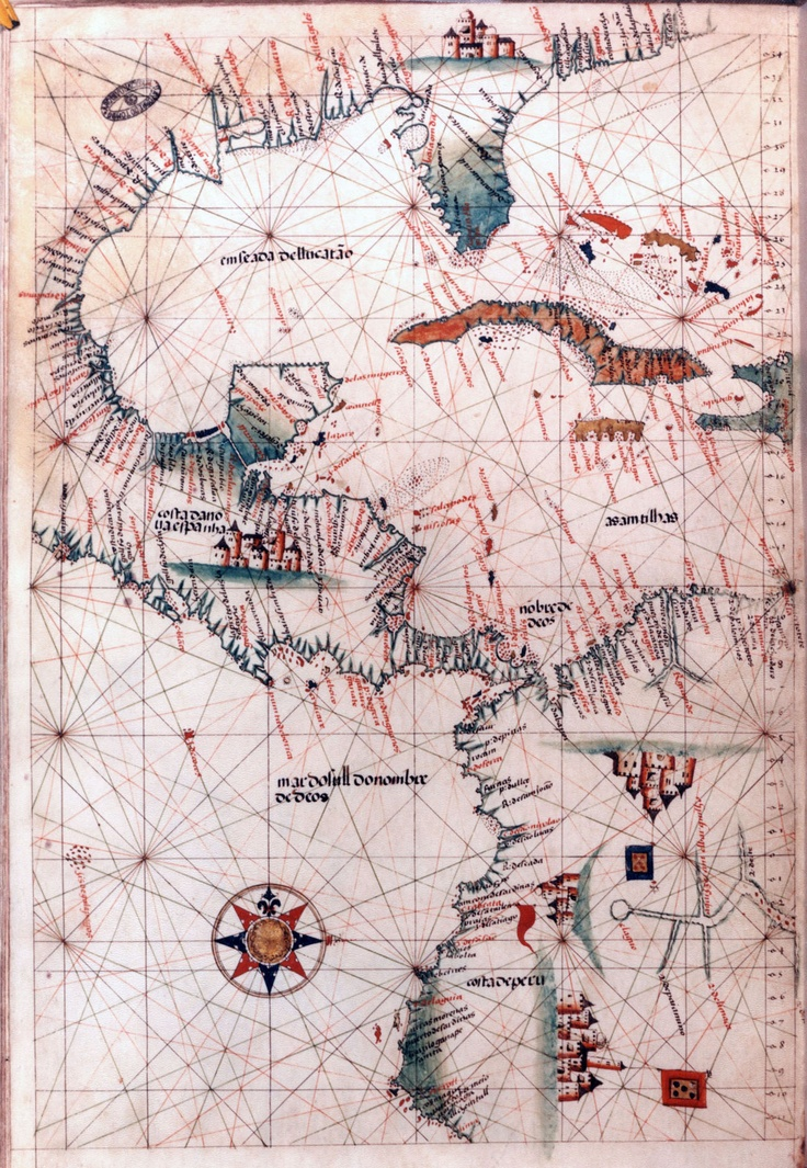 Map of America. 16th-century